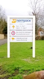 Werbeschilder Normpack