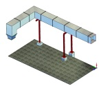 Luftkanal für Gebläse